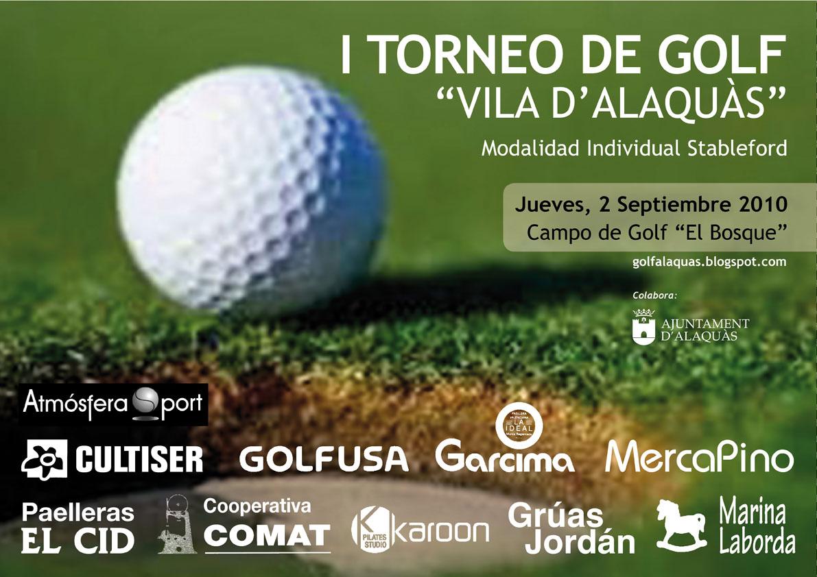 Primer torneo de Golf Vila d'Alaquas Cartel