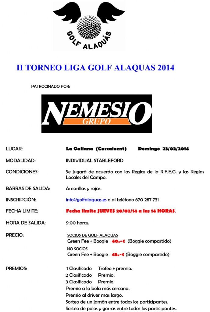 INFO II TORNEO 2014