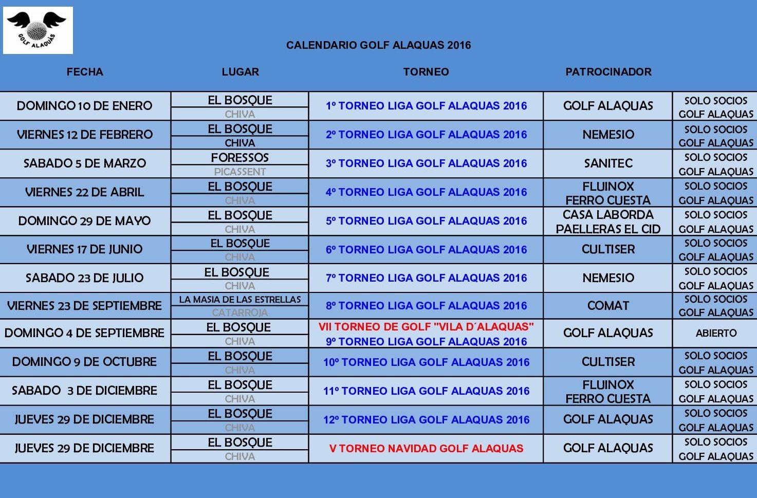 CALENDARIO_GOLF_ALAQUAS_2016