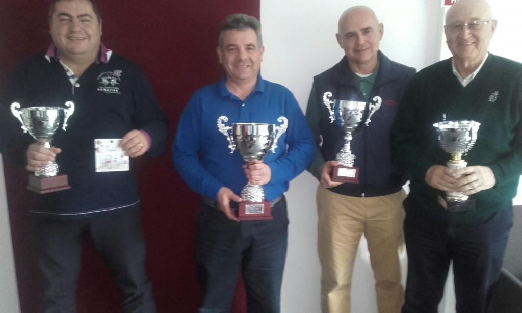 Calos Ferrer, Luis Capape, Paco Lopez Costell y Joseff Muller, campeón de la Copa 2015.