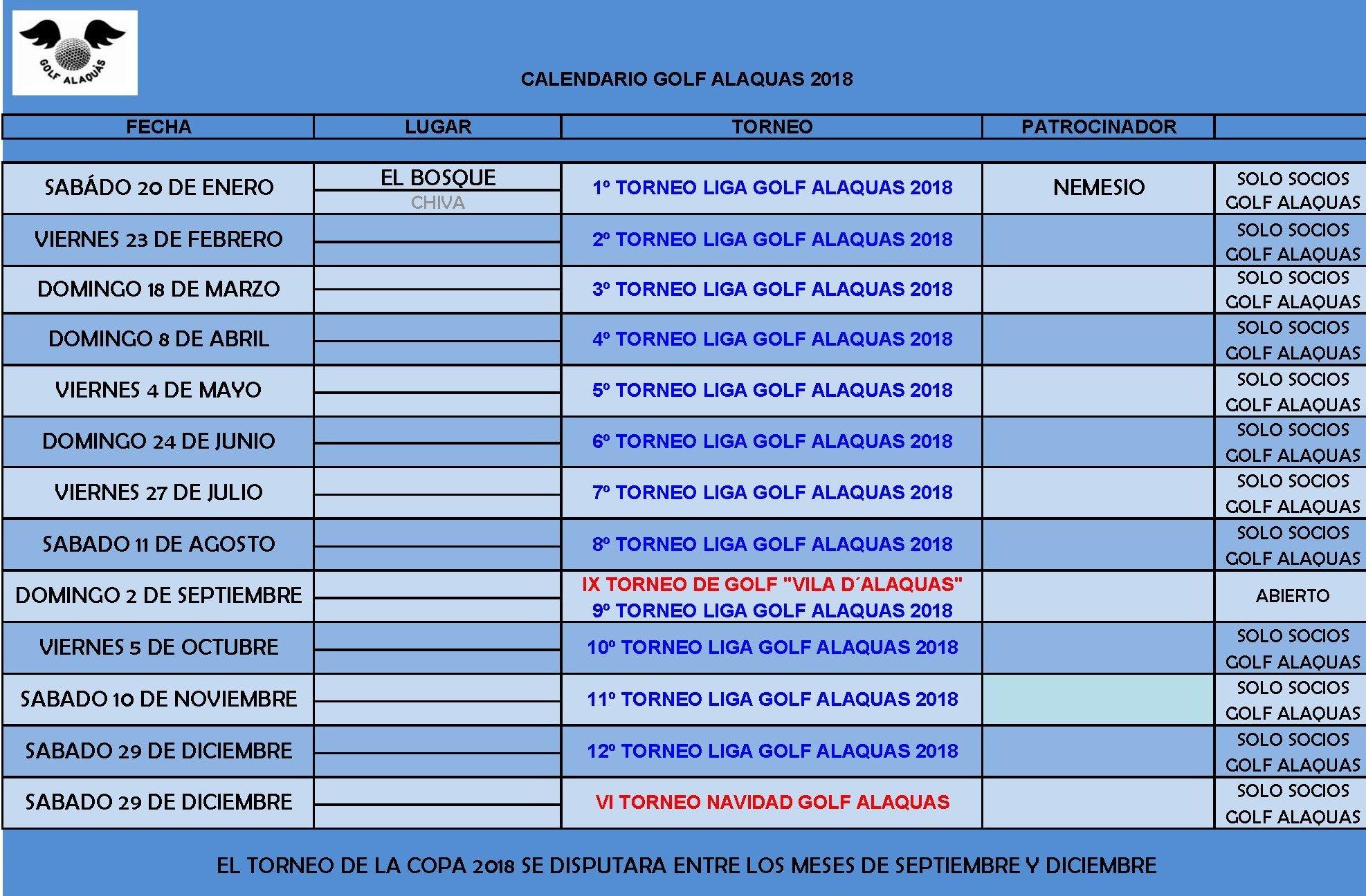 CALENDARIO_GOLF_ALAQUAS_2018