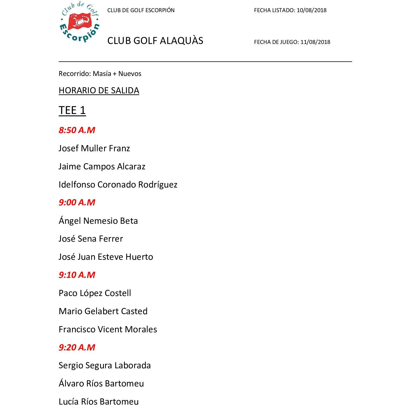 Golf Alaquàs salidas_000