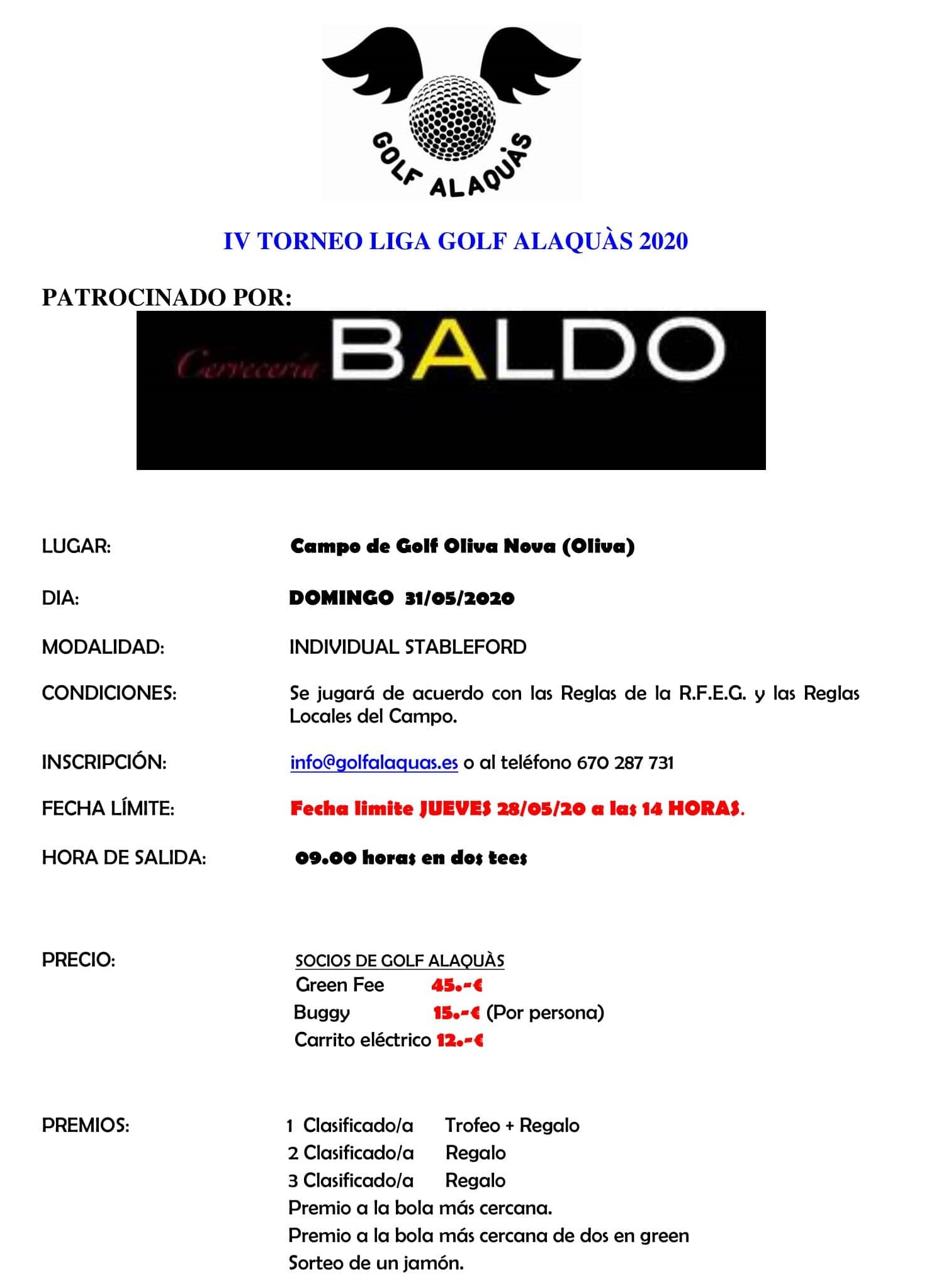 INFO IV TORNEO 2020 31-05-20
