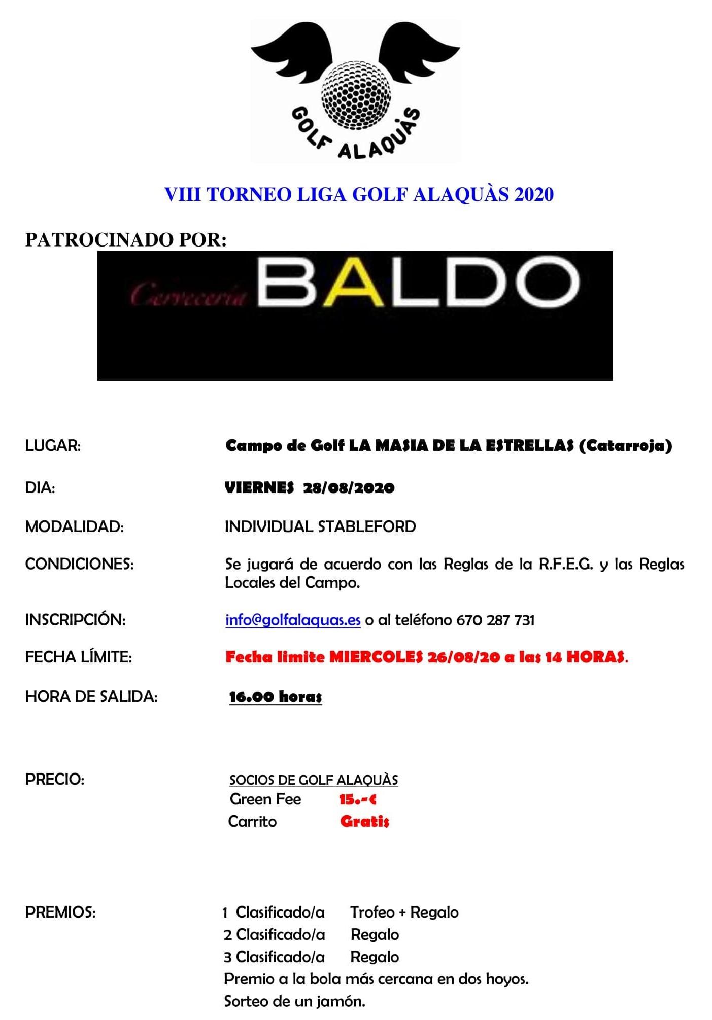 INFO VIII TORNEO 2020 28-08-20