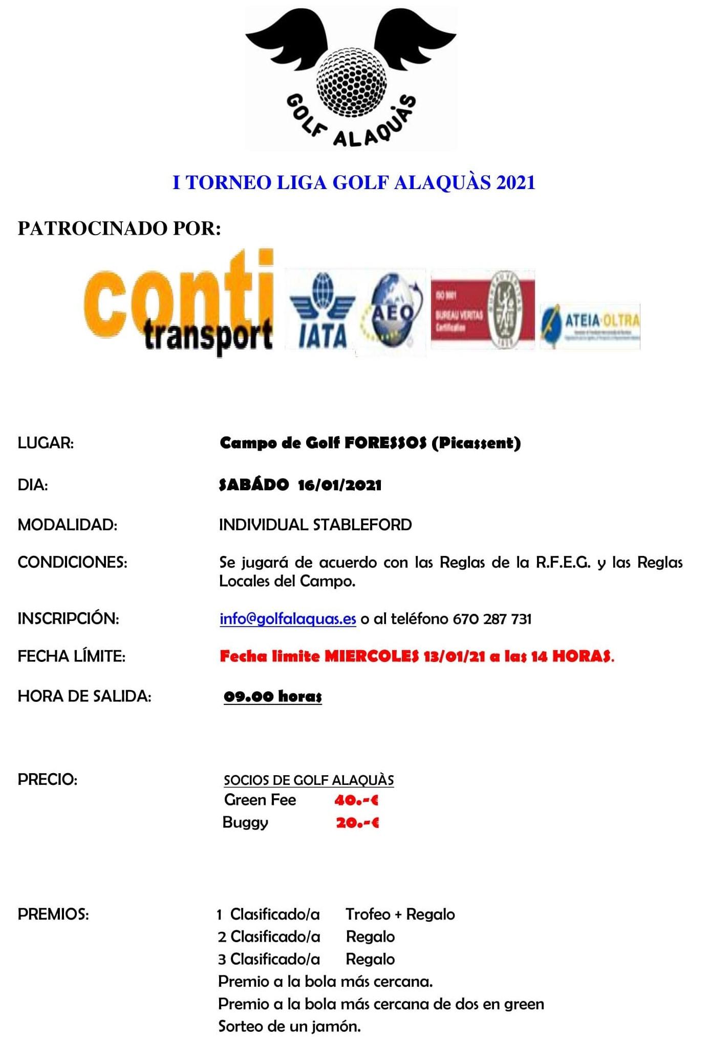 INFO TORNEO ENERO 2021 16-01-21