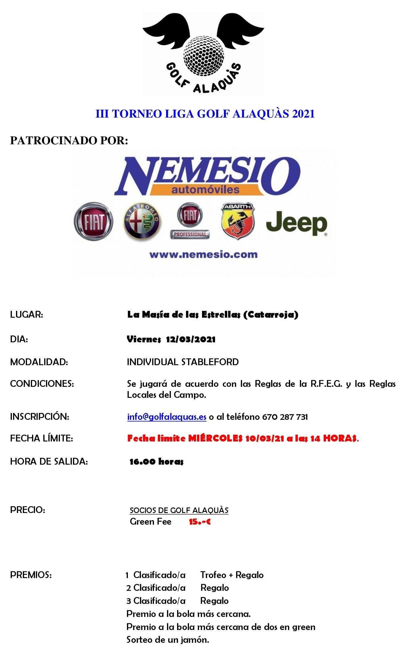 INFO III TORNEO 2021 12-03-21