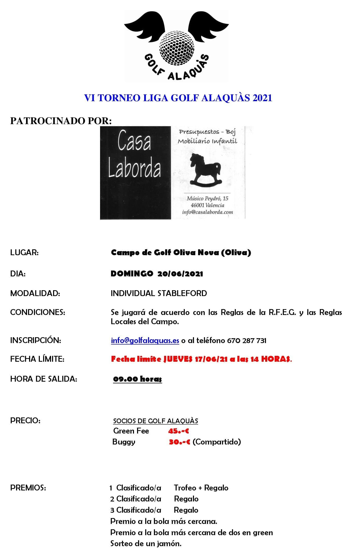 INFO VI TORNEO 2021 20-06-21