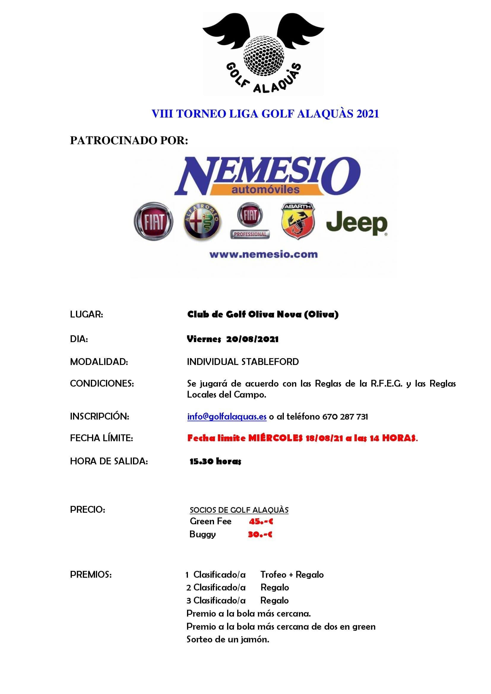INFO VIII TORNEO 2021 20-08-21