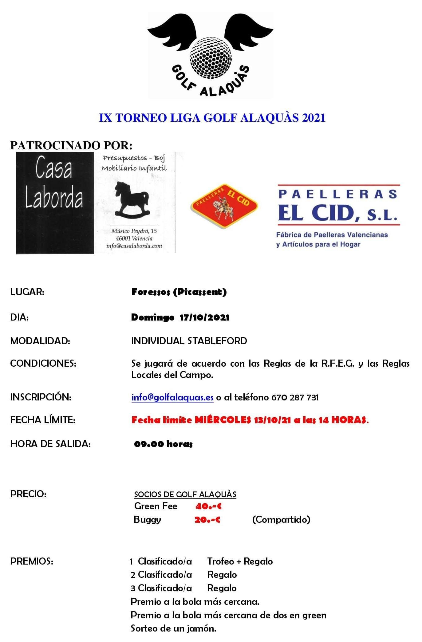 INFO IX TORNEO 2021 17-10-21